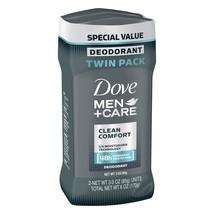 Dove Men+Care Clean Comfort Deodorant Stick, 3.0 oz, Twin Pack - $24.62