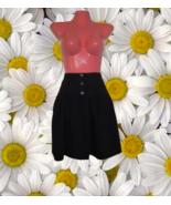 vintage 90s clothes black mini skater skirt size large medium 8 1990s 19... - $24.99
