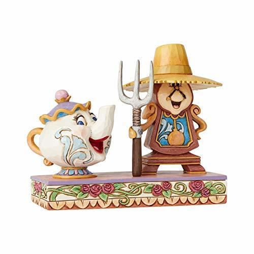 Primary image for Enesco Disney Traditions by Jim Shore Beauty and The Beast Cogsworth and Mrs. Po