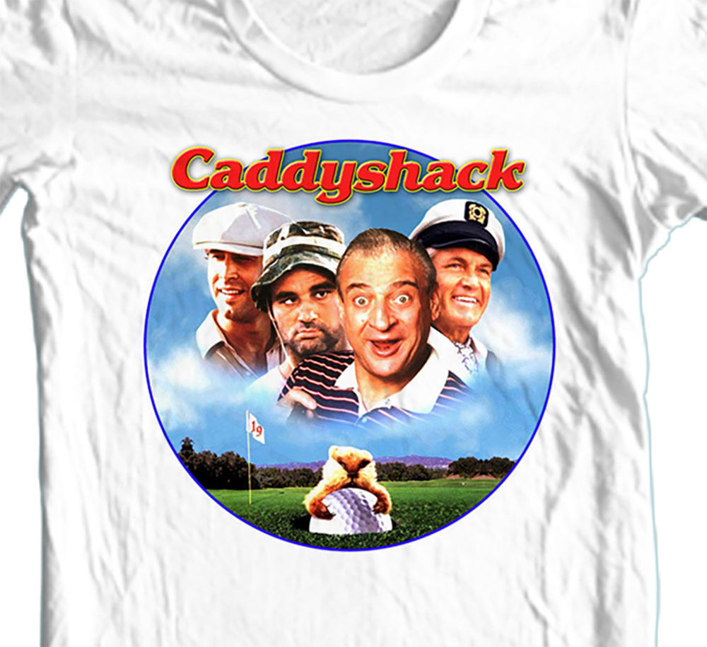 Caddyshack T-shirt retro 1980s golf movie 100% cotton graphic printed white tee