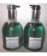 2 bottles Bath & Body Works CO Bigelow Hand Wash Soap 13.3 oz  Sea Salt ... - $59.99