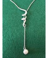 Swarovski Crystal Pave' SWIRL & BALL Necklace - $87.00