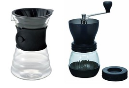 2 Popular Hario Products - Hario V60 Drip Decanter Sold Together with Ha... - $69.29