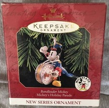 Hallmark 1997 Bandleader Mickey Ornament Series #1 Holiday Parade Disney Nib - $10.88