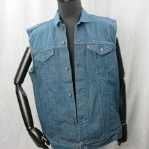 Levis Camionero Denim sin Mangas Jean Jacket XL Color Azul Índigo 4 Bolsillos image 6