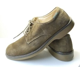 Bass Lace Up Pasadena Oxford Men's Sz 10M Brown Suede Leather Shoes (tu33) - $23.84