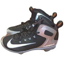 Nike Air Max Huarache Baseball Metal Cleats Black Gray Size 8 923428-010 - $21.78