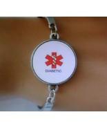 Trendy Diabetic Alert Domed Cabochon Bracelet - $8.99