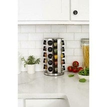 Orii Rotating 20-Jar Spice Kitchen Counter Rack - £29.25 GBP