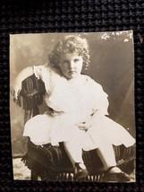 Antique Original Photograph Post Card 1906 Little Girl Very Cute Studio ... - $5.00