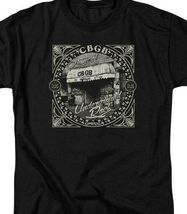 CBGB Retro 70s Punk Rock Bar NY City graphic black cotton T-shirt CBGB105 image 3