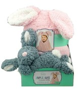 Little Miracles Animal Hugs Collection Hooded Blanket w/ Plush, 2 PC RABBIT NEW - $20.79