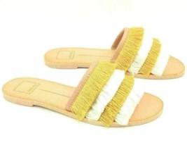 Dolce Vita Women Fringe Slide Sandals Celaya Size US 6.5 Yellow White - $27.94