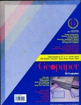 4 Sealed Packs GEOPAPER Gray Rose Green & Blue 400 Sheets 24 Lb Bond  - $39.56