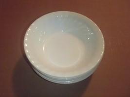"Set of 6 Corelle Enhancements White Swirl Salad Cereal Bowls 7 1/4""  - $37.39"