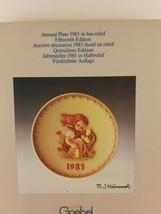 Goebel Hummel 15th Annual Plate Chick Girl TMK-6 1985 With Box - $16.25