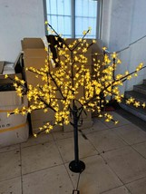 5 FT 480 pcs LED Cherry Blossom Tree Yellow LIGHT Wedding Christmas party decor - $299.00