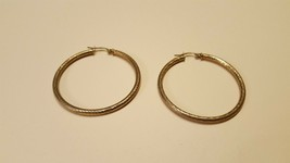 Antique Vintage Sterling Silver 925 Earrings, 1.5 Inch Diameter - $15.00