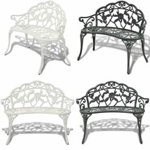 Metal Floral Garden Bench Outdoor Patio Lawn Seat Furniture Yard Balcony... - $162.53