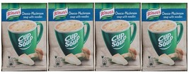 4 bags KNORR instant soup Mushroom and cheese with croutons flavor Quick... - $6.79