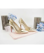Sophia Webster Coco Gold Leather Ombre Crystal Encrusted Heels Size 37 7... - $321.26