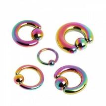 "Captive Nipple Ear Ring 14 Gauge 5//8/"" Titanium IP Black 5mm Ball Body Jewelry"