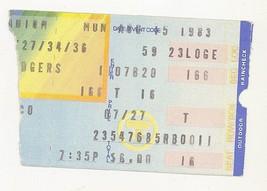 San Francisco @ Los Angeles 8/15/83 Ticket Stub! Giants 7 LA Dodgers 3 H... - $2.96