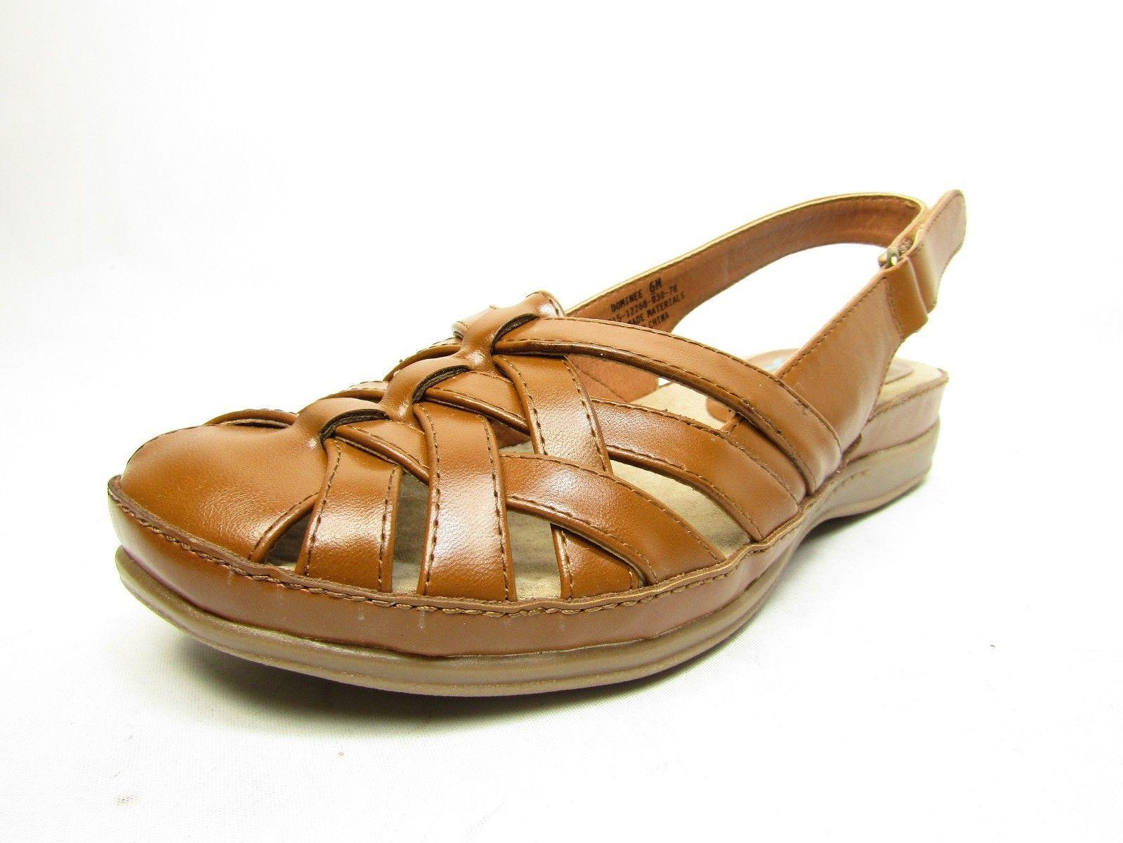 Yuu Dominee Women Round Toe Synthetic  Slingback Sandals Auburn Size 6M