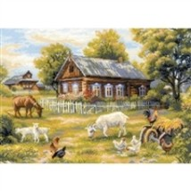 RIOLIS Counted Cross Stitch Kit, Afternoon In The Country, Kit #R1501 - $60.57