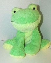 Ty Pluffies Leapers Frog Plush Green yellow Stuffed Animal 2006 Tylux si... - $9.89