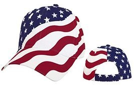 American Flag Cap Patriotic Hat Red White and Blue Stars and Stripes - £7.48 GBP