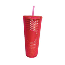 Starbucks Bling Pink Studded Cold Cup Tumbler Winter 2019 24 oz - $47.72