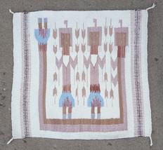 "Vtg Native Wool Weave Rug- 30"" x 32""-Sand Painting-Handmade-Woven-Americ... - $93.49"
