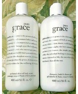 PHILOSOPHY PURE GRACE 3 IN 1 SHOWER GEL & OLIVE OIL BODY SCRUB 16 OZ.EACH  - $26.99