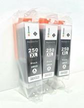GPC 250XL Canon PGI-250XL High Yield Black Ink Cartridge (Pack Of 3) Brand New - $29.95
