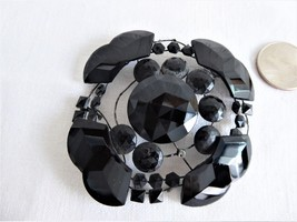 Victorian Black Glass Dress Trim Piece Hat Trim Destash French Jet Ornament - $18.00