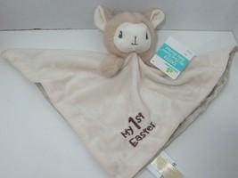 Dandee New Tan llama rattle cream beige Security Blanket MY 1st First Ea... - $13.85