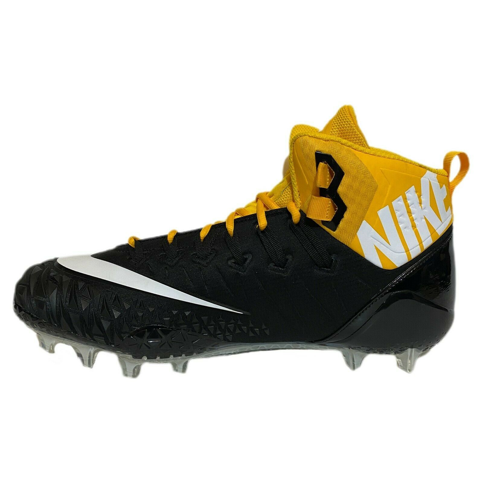 Primary image for Nike Force Savage Pro Elite TD Football Cleats Black Yellow AJ6605-006 Size 15
