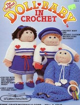 Doll Baby In Crochet Fibre Craft PATTERN/INSTRUCTIONS For Body & Clothing - $2.67