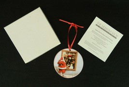 Glass Christmas Ornament Santa with Two Sisters Art Institute of Chicago... - $13.85