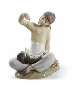 Lladro 01007711 Playtime With Petals Porcelain Figurine New  - $306.90