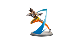 "Overwatch Tracer 10.5"" Tall Polystone Statue Version 2 Fixed Face Blizza... - $289.99"