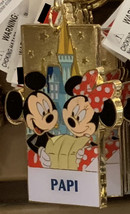 Disney Parks Mickey Minnie Mouse Character Metal Keychain Papi NEW - $21.90