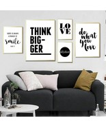 Black And White Poster Love Motivational Quotes Canvas Painting Quote Po... - $5.99+