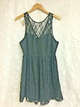 Forever 21 Dress Black Lace Sleeveless Dress Womens Size Large Summer - $4.95