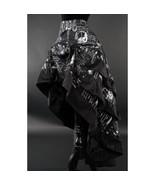Steampunk Inventions Print Black Ruffle Trim Long 3 Layer Victorian Goth... - $67.02