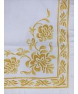 Williams Sonoma Set 4 Dinner Napkins Yellow White 100% Cotton Lovely 19X20  - $23.20