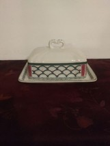 Mikasa Country Classics ~ Country Scene DD007 ~ Covered Butter Dish  - $32.71