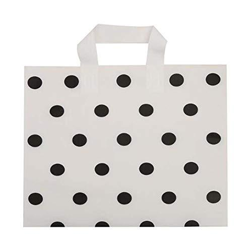 Primary image for Panda Legends White Polka Dot - 48 Pieces Plastic Shopping Bags Boutique Bags Re