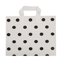 Panda Legends White Polka Dot - 48 Pieces Plastic Shopping Bags Boutique... - $29.04